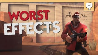 [TF2] Top 10 WORST Unusual Effects! (feat. pyrofuzion)