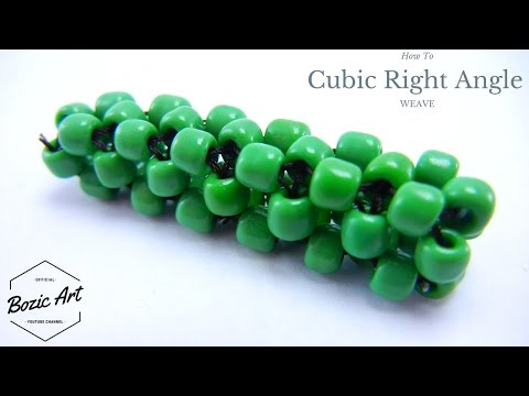 🔰 Basic Cubic Right Angle Weave   How To Tutorial