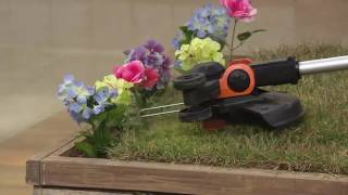 Worx 3.0 Trimmer & Edger w/2 Batteries, Command Feed & 6 Spools on QVC