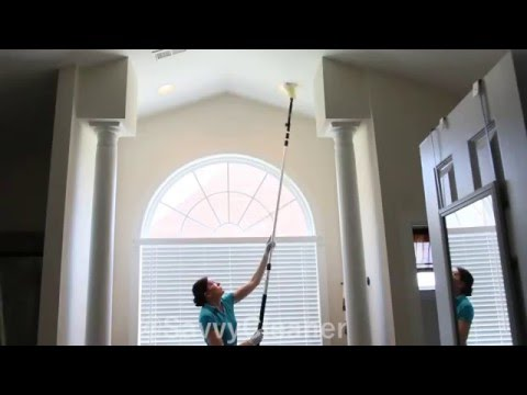 How to dust ceilings and recessed lighting @SavvyCleaner