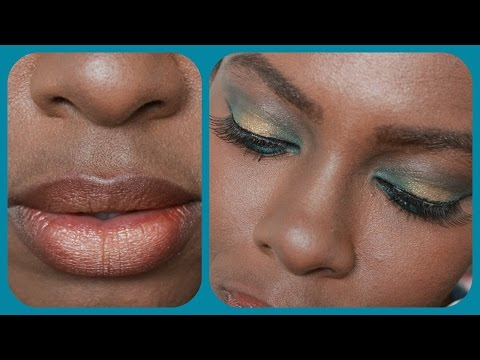 Fall Makeup: GOLDEN TEAL | Flairelle