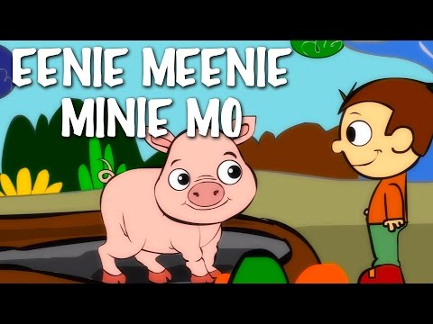 Eeny Meeny Miny Moe | Nursery Rhyme With Lyrics | English Rhymes For Kids