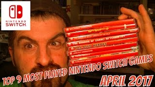 TOP 9 MOST PLAYED NINTENDO SWITCH GAMES APRIL 2017