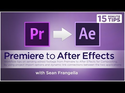 How to Send & Link Premiere & After Effects Projects (Adobe