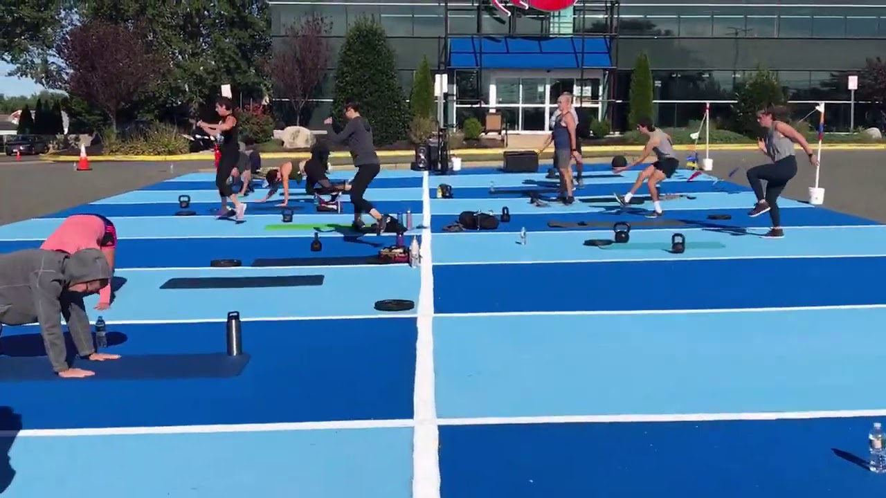 """Outside Thrive Bootcamp on the best Outside workout area, """"Lotta Gains"""""""