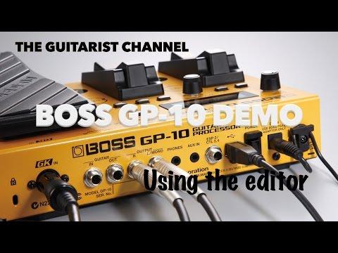 Boss GP-10 User Demo with Editor