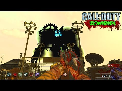 SUPER EASTER EGG BOSS FIGHT ON MOON! - CALL OF DUTY BLACK OPS ZOMBIES MOD GAMEPLAY!