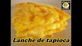 Lanche de tapioca 3 queijos com apenas 5 ingredientes