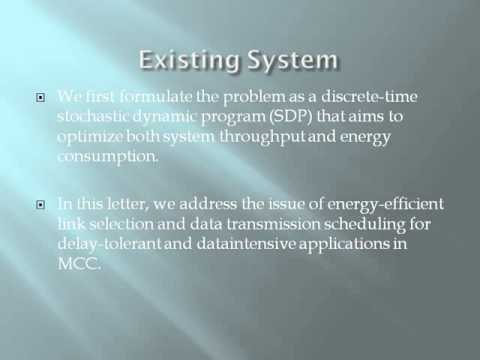Energy Efficient Link Selection and Transmission Scheduling in Mobile Cloud Computing