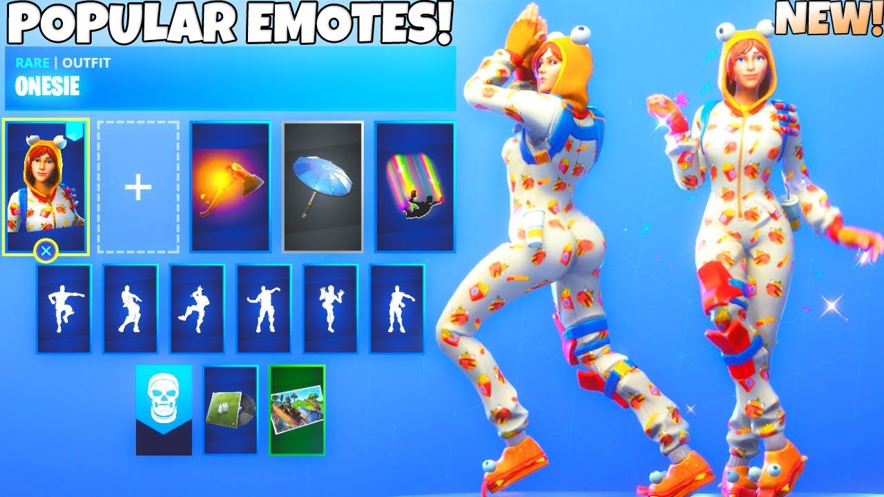 New Season 7 Onesie Skin Showcase With All Dance Emotes