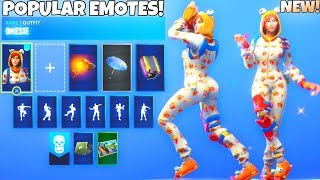 "NEW! SEASON 7 ""Onesie"" SKIN! SHOWCASE With ALL DANCE EMOTES! (Fortnite Battle Royale)"