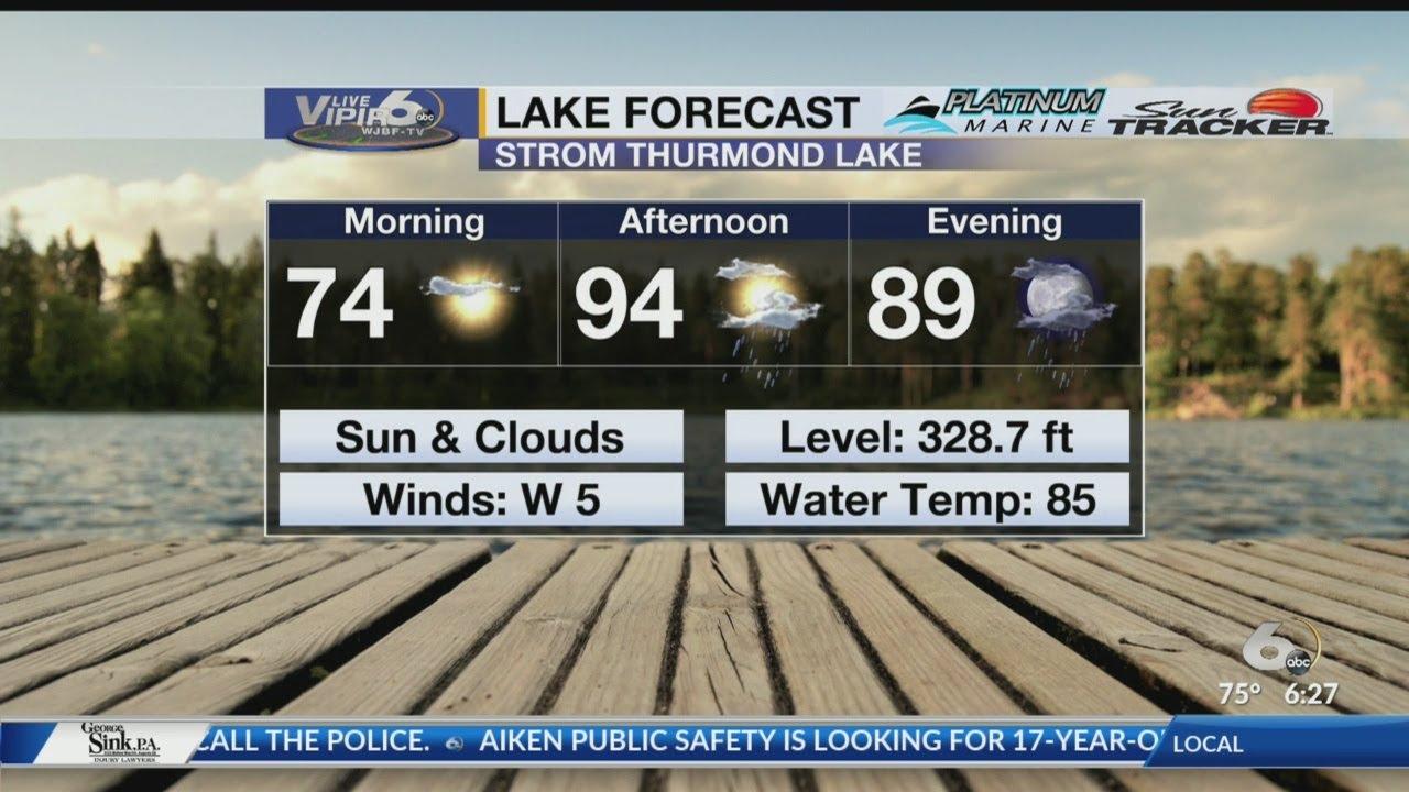 Lake Forecast Thursday, August 8, 2019