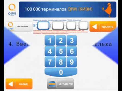 Как оплатить товар через QIWI терминал