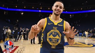 Steph Curry reaches 15,000 career points in the Warriors