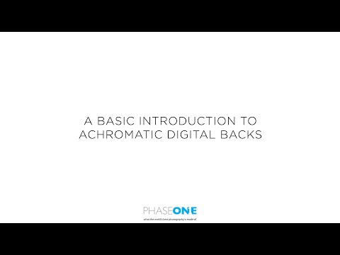 Support | A basic Introduction to Achromatic backs | Phase One