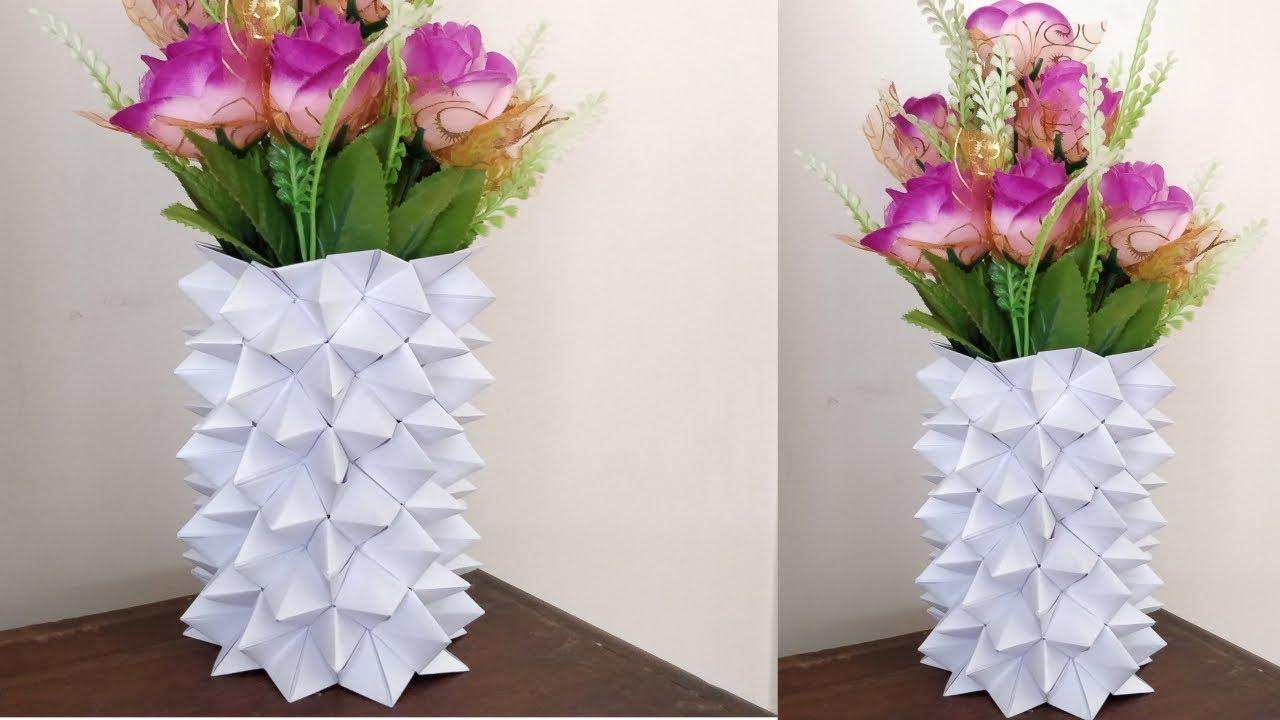 How to make a paper flower vase diy simple paper craft youtube how to make a paper flower vase diy simple paper craft mightylinksfo