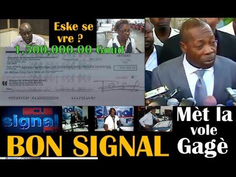 BON SIGNAL: DANTON LEGER pap ka rete nan Ayiti. YO BARE RNDDH nan pran lajan anba tab