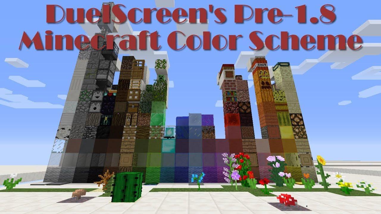 Minecraft: Pre-1.8 Color Scheme - YouTube