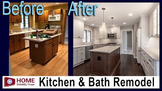 Kitchen & Bathroom Remodel - Before & After | White Kitchen Design and Updated Master Bath