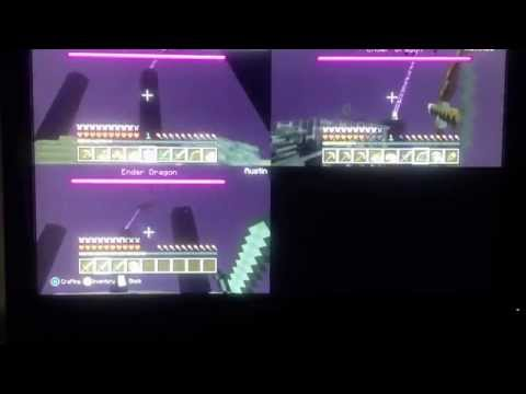 Minecraft Xbox 360 - defeating the ender dragon! Tutorial -  How to get the ender dragon egg!!!!