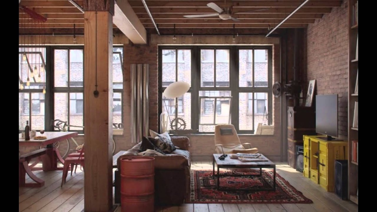 Urban Loft Interior Design Ideas, The Living Room Loft ...