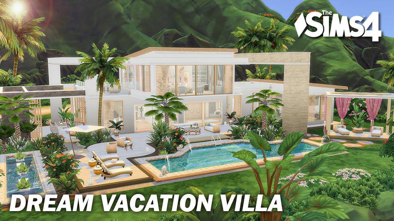Dream Vacation Villa | No CC | Artworks | Stop Motion | Sims 4