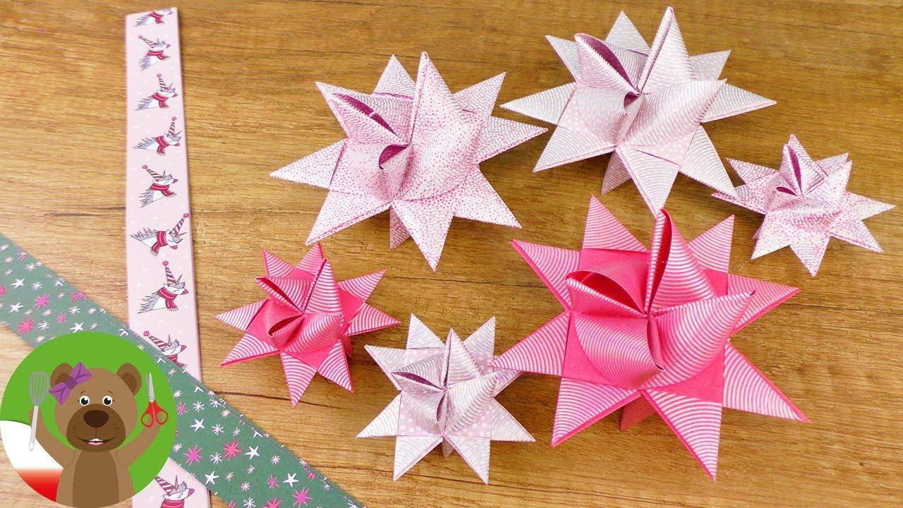 Gwiazdki Z Pasków Papieru Dekoracja świąteczna I Adwentowa
