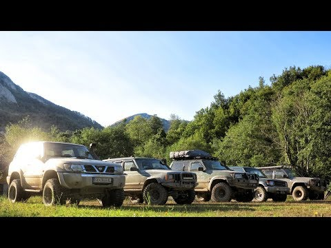 Jeep Cherokee vs Nissan Patrol vs Mitsubishi Pajero - Montenegro mountains Part 1