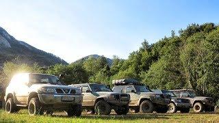 Jeep Cherokee vs Nissan Patrol vs Mitsubishi Pajero - Montenegro mountains Part 1