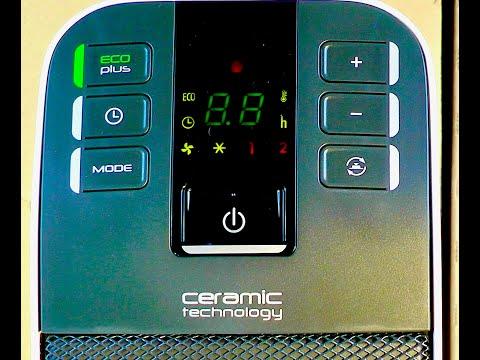 De'Longhi HFX65V20 Ceramic Tower Heater Unboxing And Test