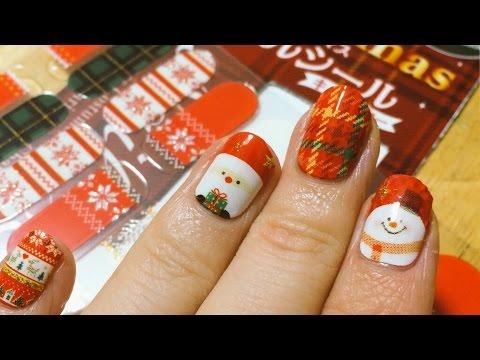 激カワ♡ダイソーのクリスマスネイルシールを貼ってみた。 , 2014.12.24 SasakiAsahiVlog