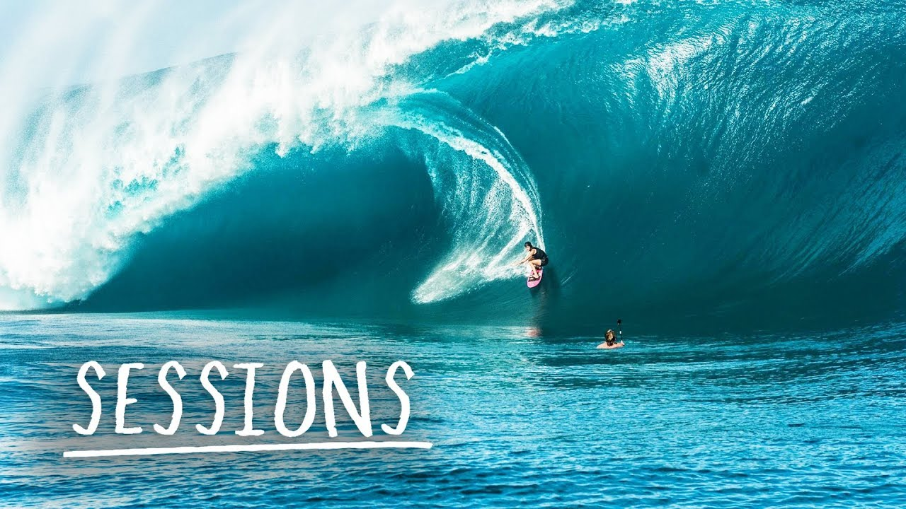 Endless Heavy Waves in Tahiti...