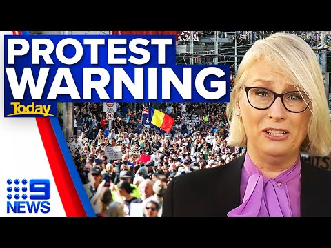 Thousands of police will try to stop Melbourne anti-lockdown protests | 9 News Australia