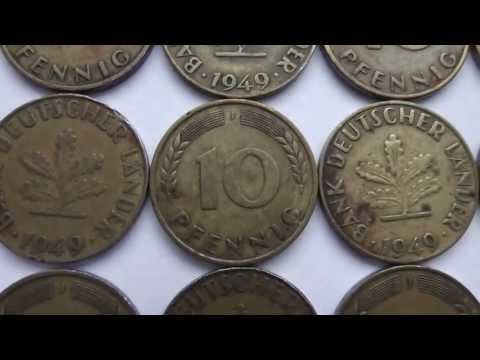 German's old money - 10 Pfennig from the year 1949