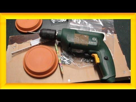 Teelichtofen Bauanleitung Vorbereitung - Richtig Bohren Und Sägen - Teelichtofen Selbst Bauen