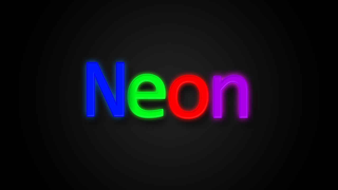 Photoshop CS6 Neon Color Text Effect Tutorial