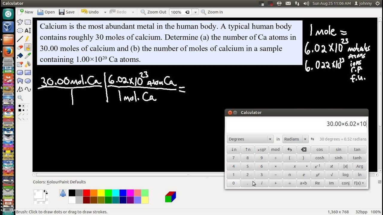 Request - How to calculate the number of atoms and moles of an ...