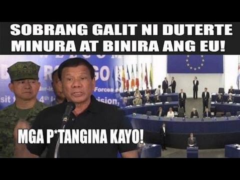 DUTERTE SUMABOG SA GALIT AT MINURA ANG EU!: MGA P*TANGINA KAYO! - Philippines News