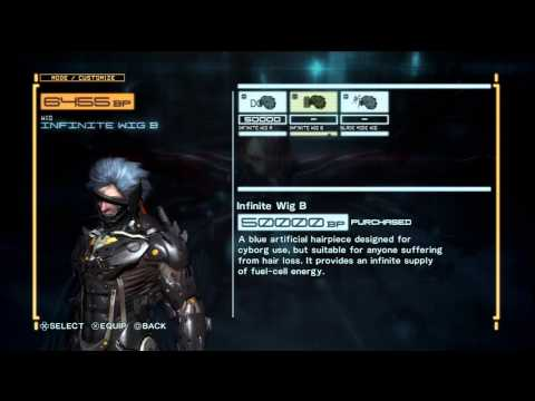 METAL GEAR RISING: REVENGEANCE | Tuxedo/Suit, Wooden Sword, All Wigs, Other Unlockables