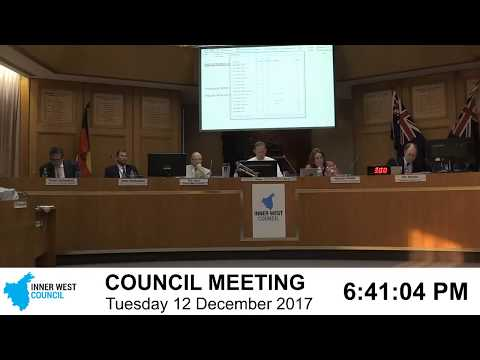 Inner West Ordinary Council Meeting 12 December 2017