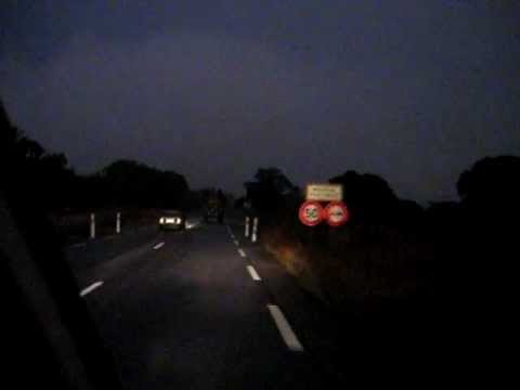 driving at night time (Congo)