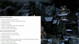 The Elders Scrolls V - Skyrim Official System Requirements