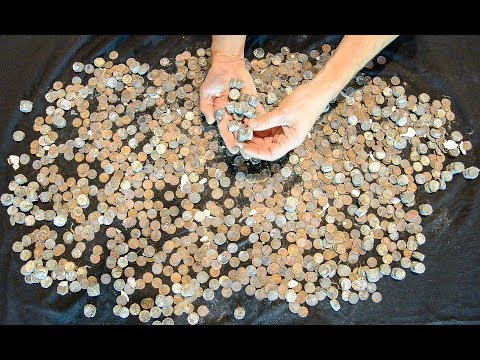 LARGEST COIN CACHE FOUND IN CANADA (we believe), metal detecting with a Surfmaster PI Dual Field