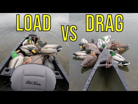Load The Decoys In The Kayak Or Drag Them Behind? What Works Better?