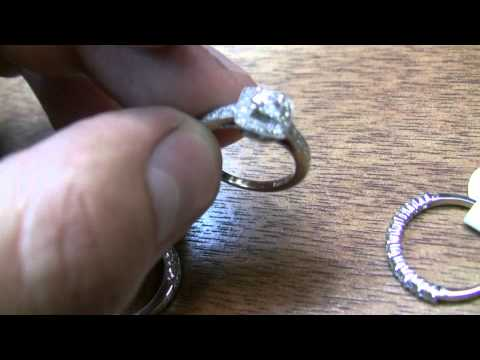 Affordable white gold diamond wedding rings