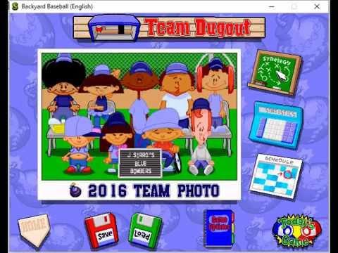Backyard Baseball (1997) - Blue Bombers Draft - YouTube
