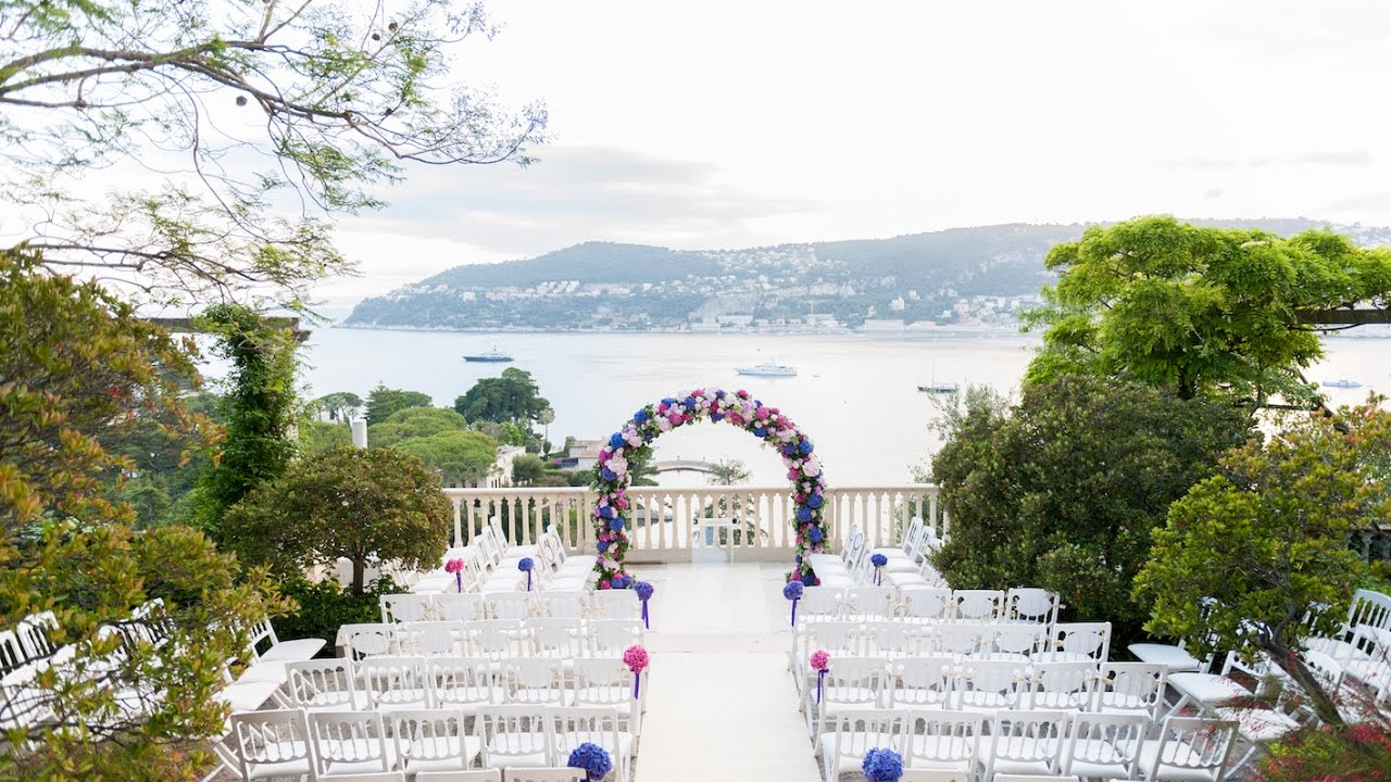 Romantic wedding Villa Ephrussi de Rothschild - YouTube