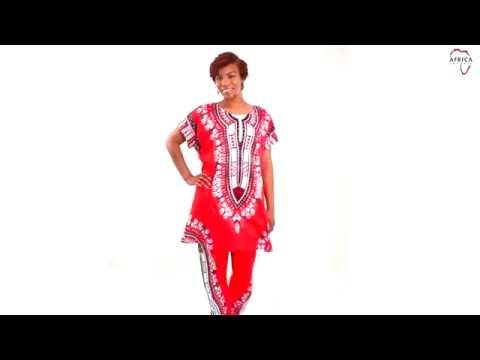 Plus-sized traditional print pant set Africa Imports