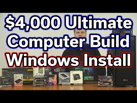 $4,000 Ultimate Computer Build - Part 4 - Windows Install