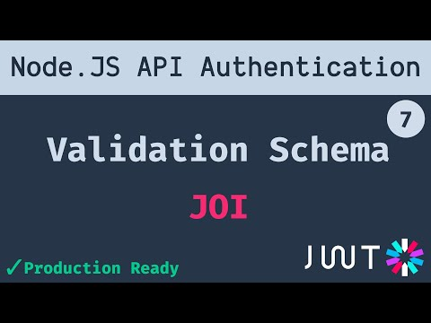 7. JOI Validation Schema to validate request body | Node JS API Authentication